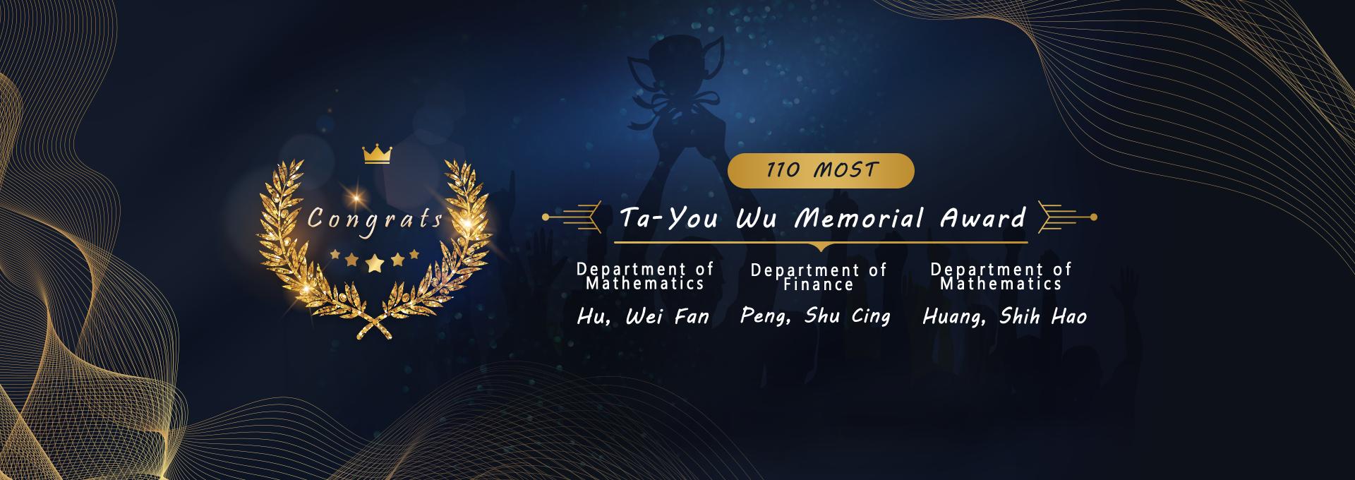 110 Ta-You Wu Memorial Award
