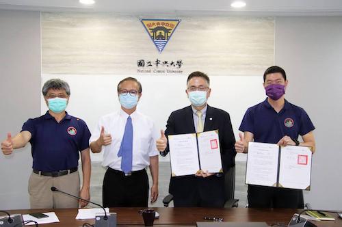 中央大學與陽翼先進科技公司完成視訊締約,將共同執行台灣首次的國際登月任務,並透過陽翼獨家代理的日本 SpaceBD 太空科技公司建立跨國產學發展計畫。陳如枝攝